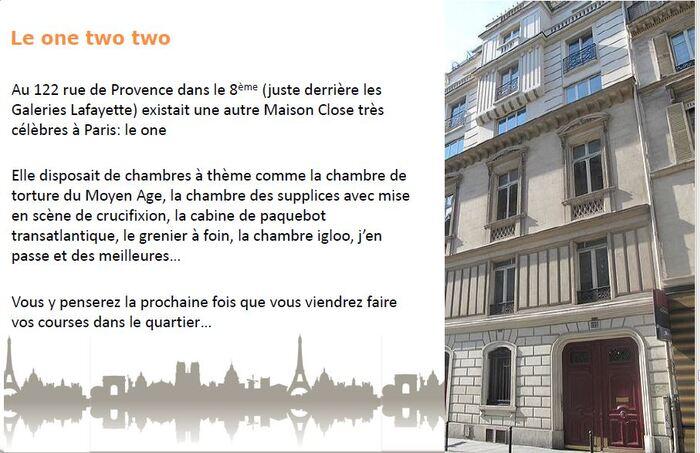 (Série sur les anecdotes de Paris)