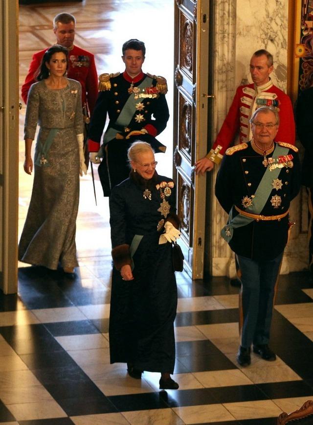 Voeux au Danemark: arrivée des royautés