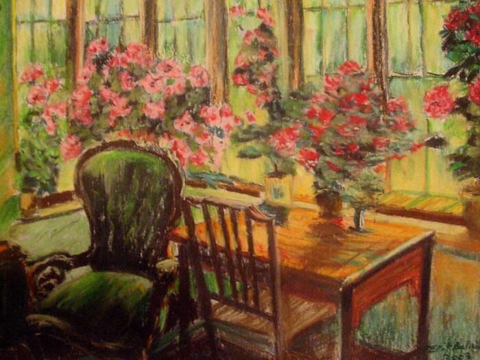 Fleurs dans le salon