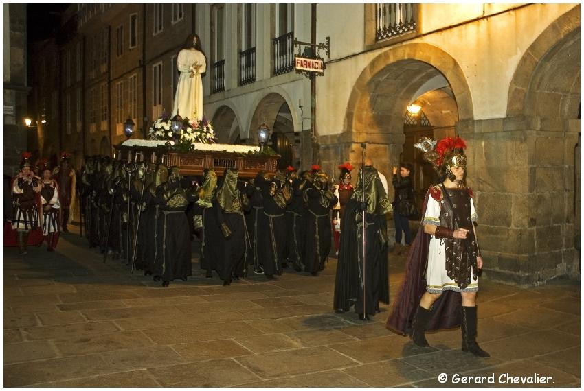 Santiago de Compostela - La semaine Sainte 4 - Jésus arrêté par les romains.