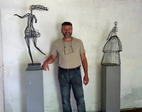 Jivko Sedlarski artiste bulgare créé sur les bords du Couesnon