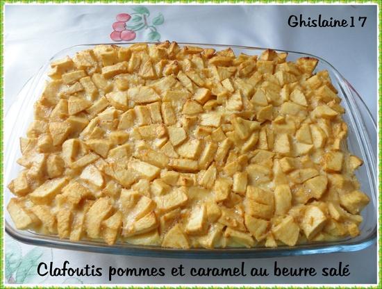 Clafoutis pommes et caramel au beurre salé