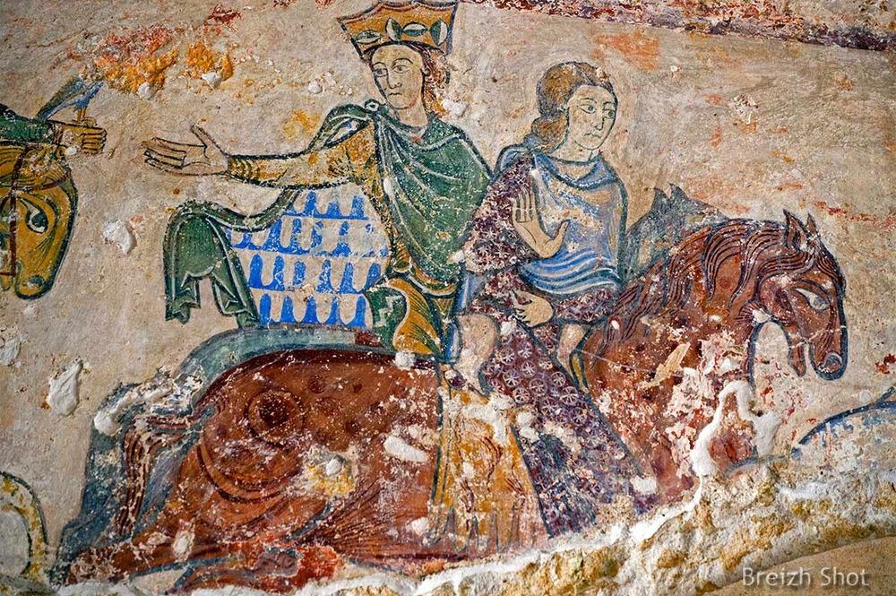 Aliénor d'Aquitaine - Peinture chapelle sainte Radegonde