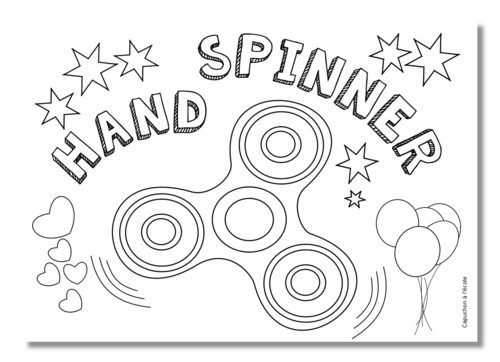 Coloriage du hand spinner