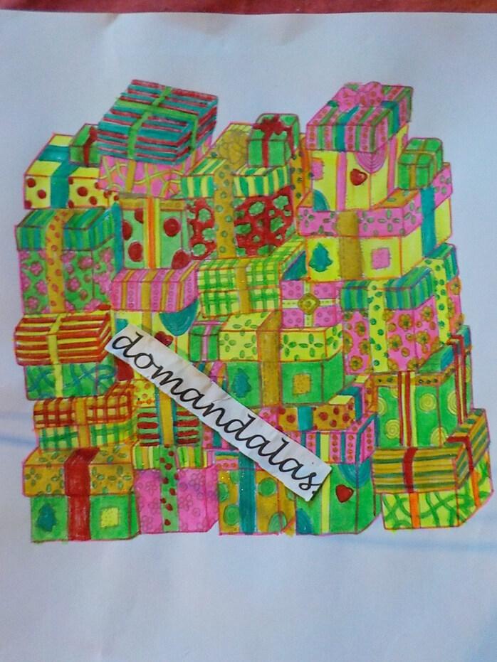DOMANDALAS coloriage cadeaux