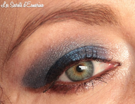 maquillage, yeux, makeup, eyes, mu, bleu, nuit, marron, night, kiko, color impact, rain smoky shades