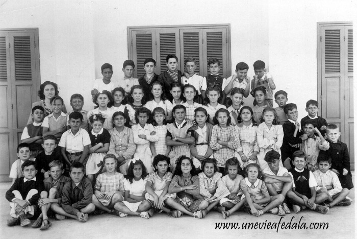 Photo de classe école du port de Fédala - 1940 - 41