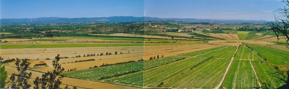 Etang de Marseillette (vue panoramique)