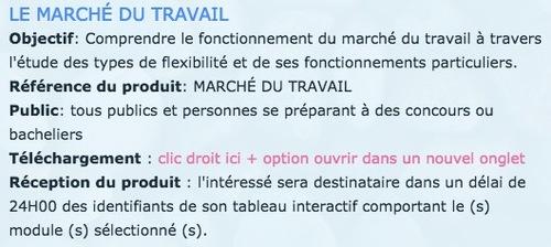 FICHE CONCEPT - LE MARCHÉ DU TRAVAIL