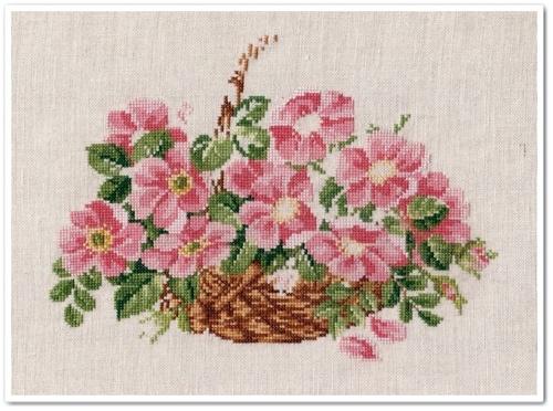 Wild Roses Basket 8