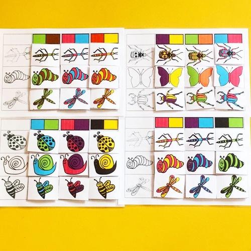 Tableaux à double entrée sur les insectes et les petites bêtes du jardin