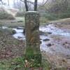 Passage près de la borne frontière 54 à la confluence des ruisseaux Otsabi et l'Agnatarbé (440 m
