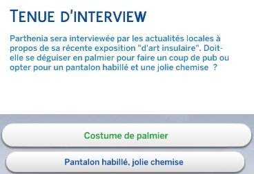 Tenue d'interview