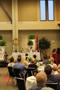 Les fidèles fêtent le repas de Pessah à la Cross Life Church d'Alvarado, dans l'Arkansas. (Autorisation)
