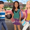 Courtney, Tia et Barbie prêtes pour une journée scolaire!