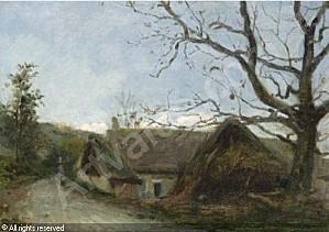 cals-adolphe-felix-1810-1880-f-le-vieux-noyer-entree-des-el