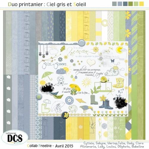 """DCS et le KIT """"Duo printannier: Ciel gris et Soleil"""