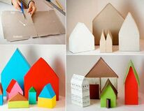 Cereal box houses for kids