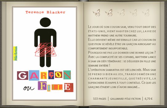 « Garçon ou fille » de Terence Blacker