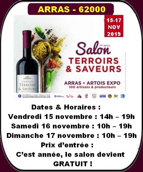 Salon Terroirs et Saveurs, brocantes et autres loisirs à Arras ce week-end