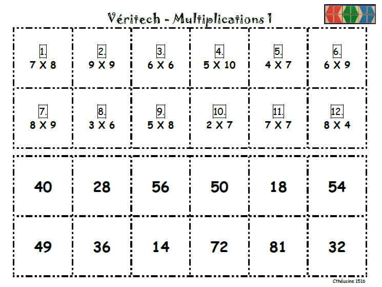 Fiches veritech maison des multiplications l 39 cole for Table de multiplication de 7 jeux