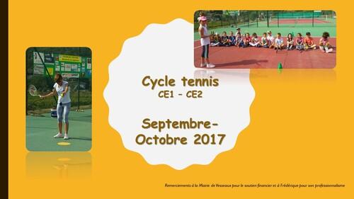 Cycle tennis période 1