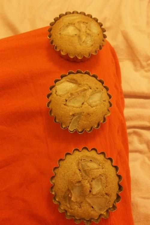 Mini cake chataigne/poire au sirop d'érable