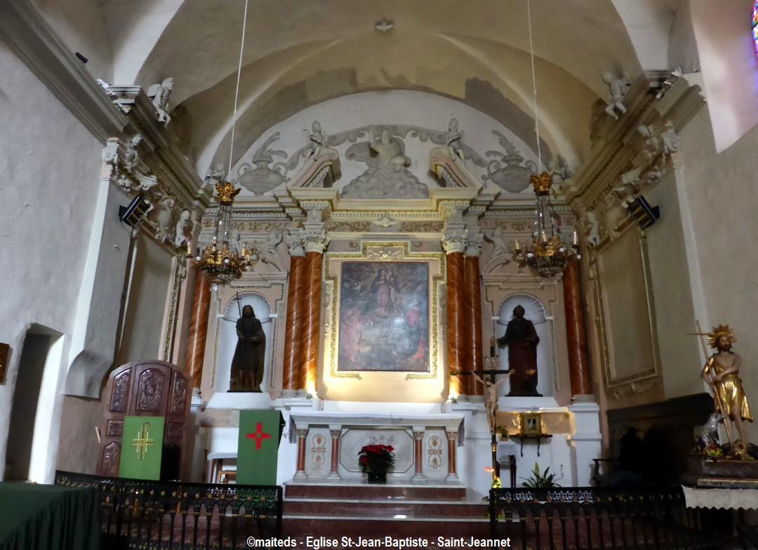 Eglise Saint Jean-Baptiste  Saint-Jeannet (06)