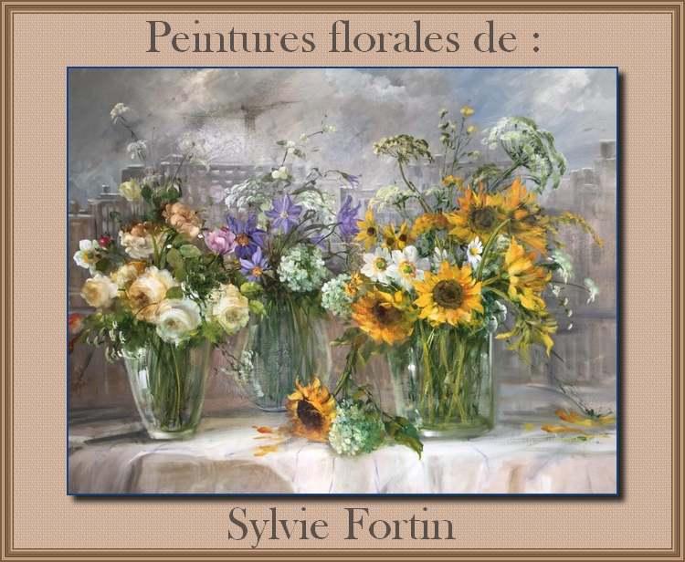 Peintures florales de : Sylvie Fortin
