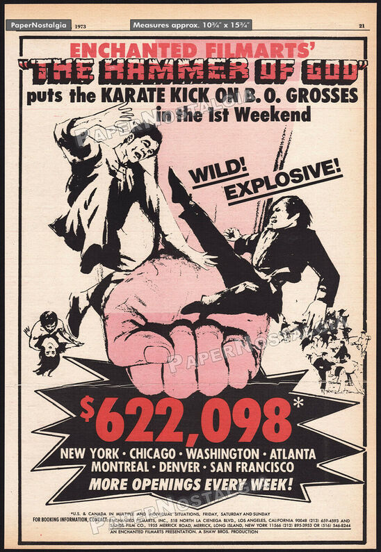 BOX OFFICE USA DU 14/06/1973 AU 20/06/1973