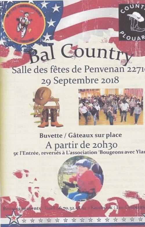 affiche penvenan 29-09-2018 plouaret country 20 h 30