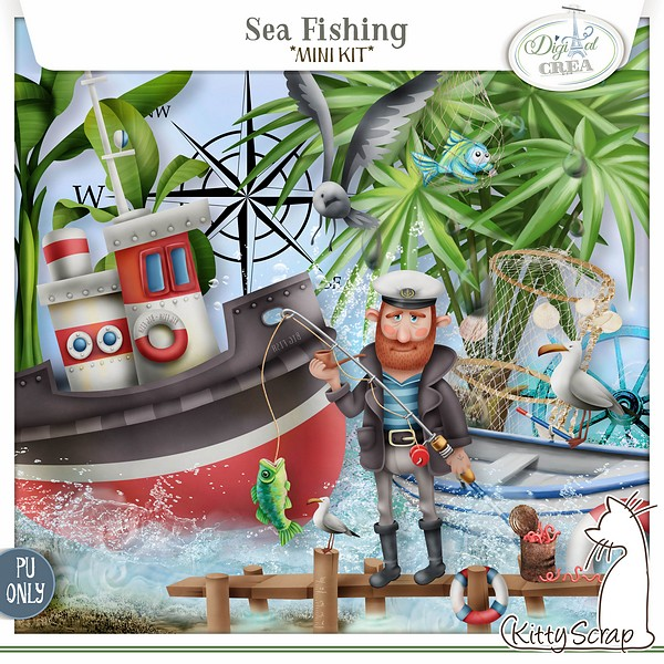 mini kit sea fishing de kittyscrap