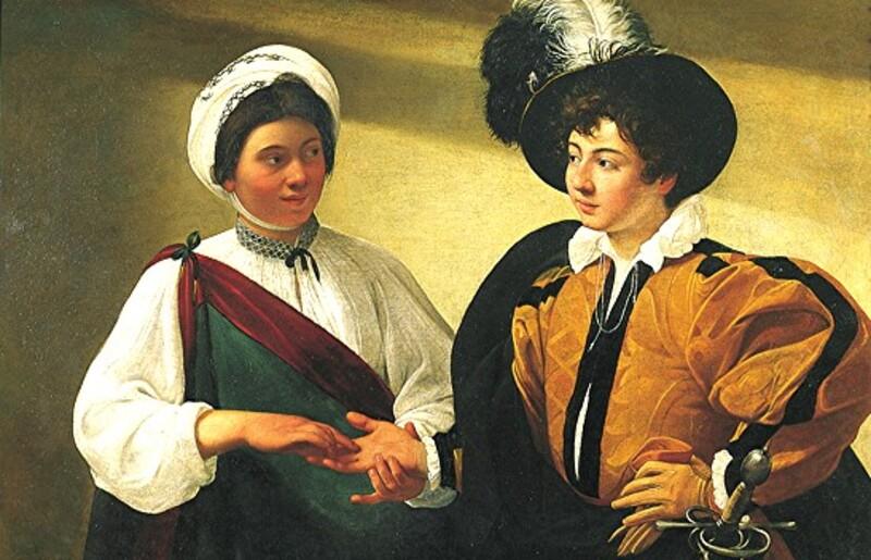 """Caravaggio (dit """"Caravage"""")  1 /   Vers la peinture de genre."""