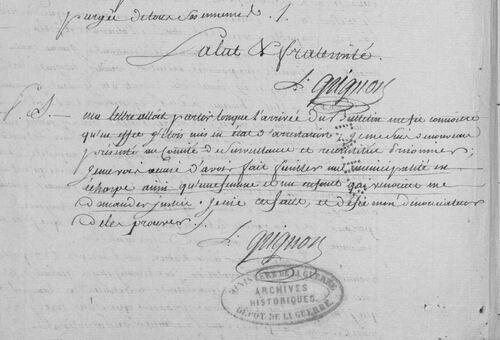 Justifications du général Grignon (1)....