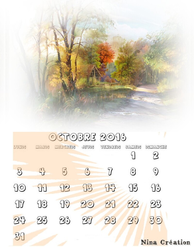 Tutoriel 45 2016 Comment faire son calendrier en page A4