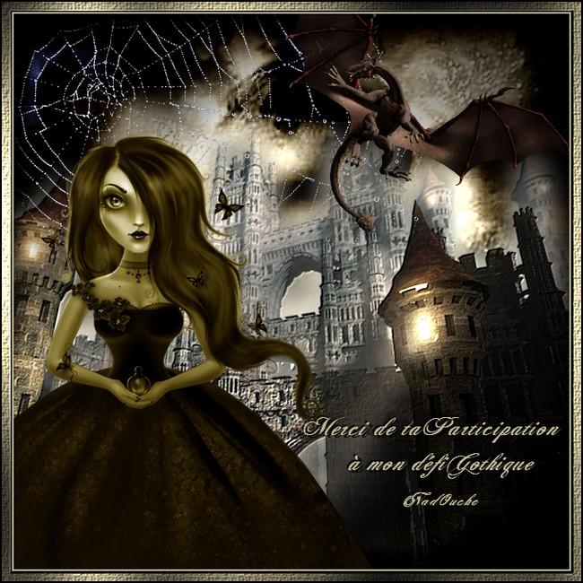 Bonne nuit mes amours- Bisous -Cadeau de participation défi Gothique de chez Nadouche