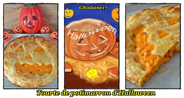Tourte au potimarron d'Halloween