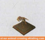 fossile animal crossing DS