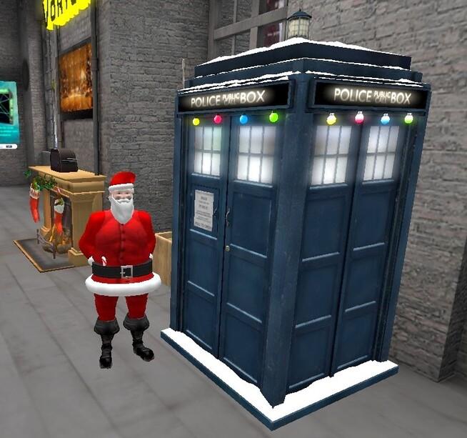 Père-Noël en Tardis !