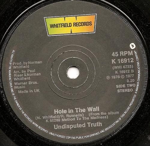 1977 : Single SP Whitfield Records K 16912 [ UK ]