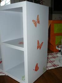 Bloc étagères Beige et Papillons