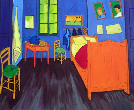 chambre de vincent van gogh. Black Bedroom Furniture Sets. Home Design Ideas