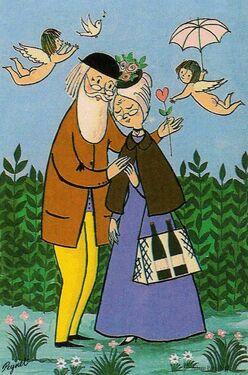 Vieux amoureux de Peney