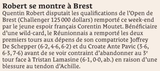 Robert se montre à Brest