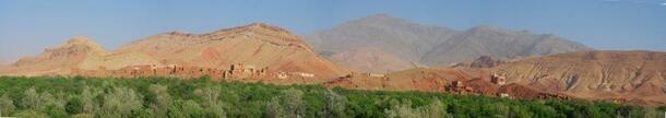 Vue d'ensemble d'une partie de la vallée