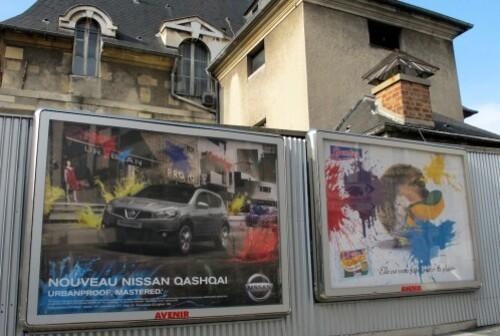 Nissan Qashqai affiche splash métro 5