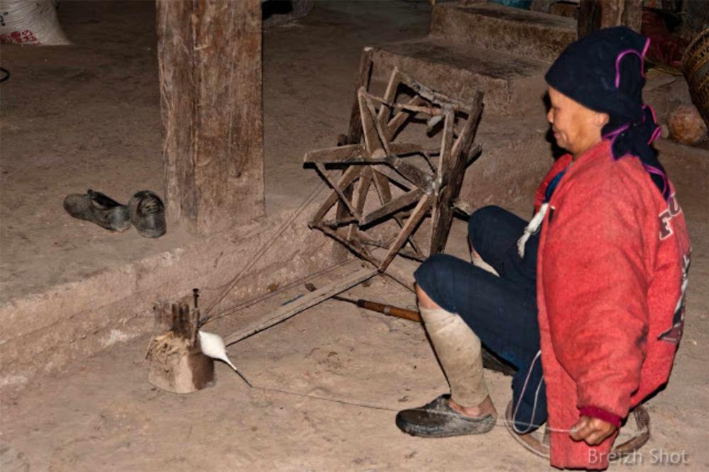 Filage du coton - Nam Dee - Laos