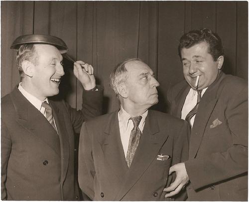 Bourvil, Buster Keaton et Jean Richard, trois géants du cinéma comique