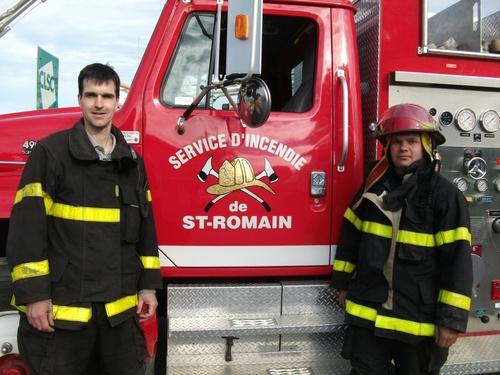 Participations des pompiers lors de la pratique d,incendie de Lambton le 10 juillet 2011