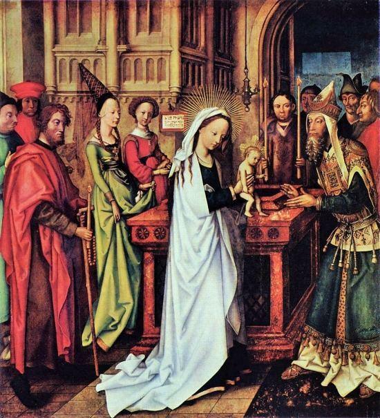 Présentation de Jésus au Temple. Peinture de Hans Holbein l'Ancien (1500)